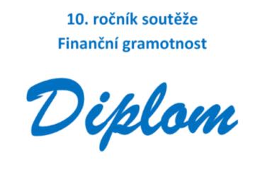 10. ročník soutěže finanční gramotnost - obrázek hlavičky diplomu